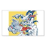 Hot Rod Wolf by Elliott Mattice Sticker (Rectangle