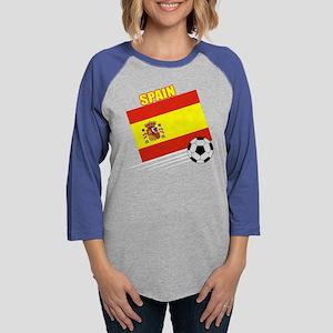 spain soccer &ball drk Womens Baseball Tee