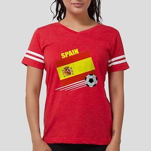 spain soccer &ball drk Womens Football Shirt