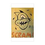 Scram! by Elliott Mattice Sticker (Rectangle)