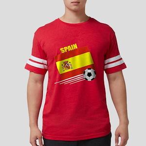 spain soccer &ball drk Mens Football Shirt