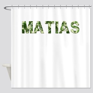 Matias, Vintage Camo, Shower Curtain
