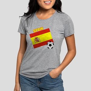 spain soccer &ball drk.pn Womens Tri-blend T-Shirt
