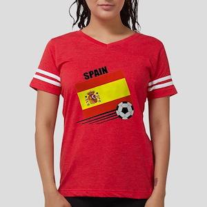 spain soccer &ball Womens Football Shirt