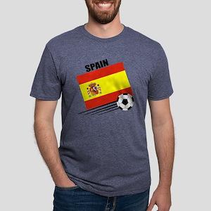 spain soccer &ball Mens Tri-blend T-Shirt