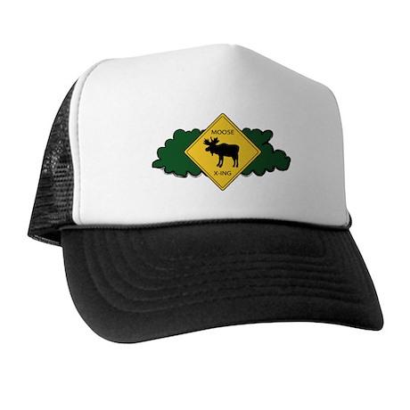 Moose Crossing Trucker Hat