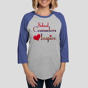 School Counselor Womens Baseball Tee