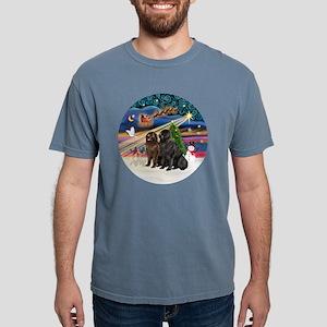 Xmas Magic - Newfoundlan Mens Comfort Colors Shirt