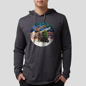 Xmas Magic - Newfoundland (TWO-B Mens Hooded Shirt