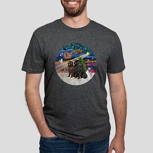 Xmas Magic - Newfoundland ( Mens Tri-blend T-Shirt
