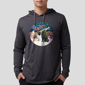 Xmas Magic - Newfoundlands (TWO- Mens Hooded Shirt