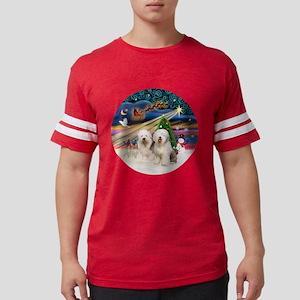 Xmas Magic - Old English (two) Mens Football Shirt