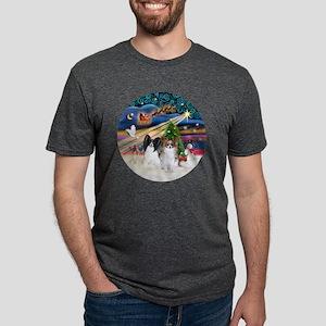 Xmas Magic - Papillons (two Mens Tri-blend T-Shirt