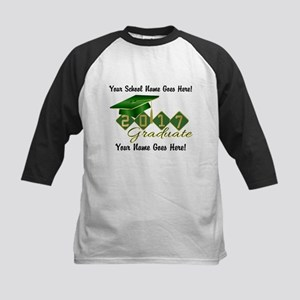 Graduate Green 2017 Kids Baseball Jersey