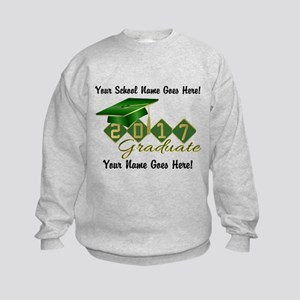 Graduate Green 2017 Kids Sweatshirt