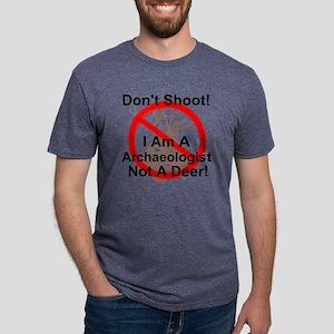 Don't Shoot I am an archaeo Mens Tri-blend T-Shirt