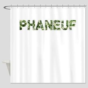 Phaneuf, Vintage Camo, Shower Curtain