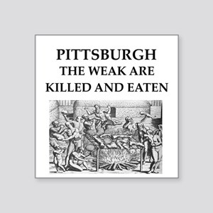 "PITTSBURGH Square Sticker 3"" x 3"""