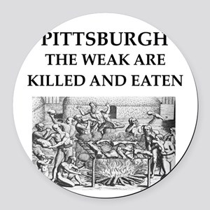 PITTSBURGH Round Car Magnet