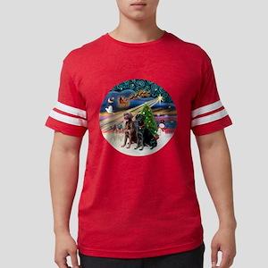 Xmas Magic - Labradors (black- Mens Football Shirt