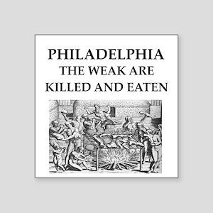 "philadelphia Square Sticker 3"" x 3"""