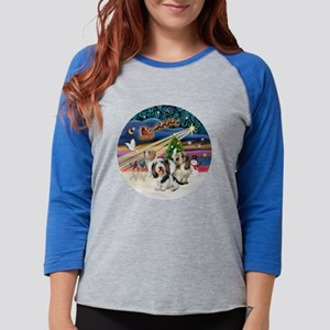 Xmas Magic - Petit Bassets (TH Womens Baseball Tee