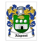 Alapont Coat of Arms Small Poster
