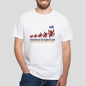 Rampant Lion Evolution White T-Shirt