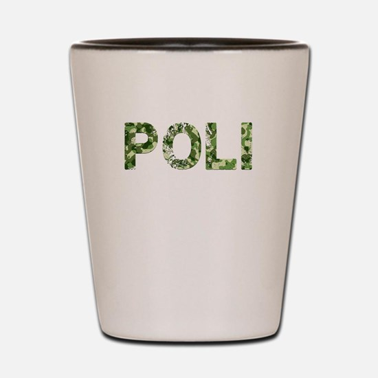 Poli, Vintage Camo, Shot Glass