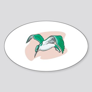 Alcyon Bird Oval Sticker