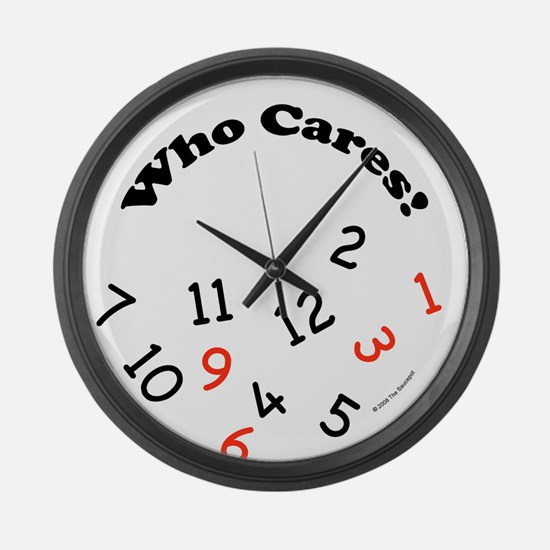 Funny Who cares retirement Large Wall Clock