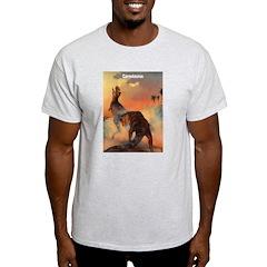 Carnotaurus Dinosaur Ash Grey T-Shirt