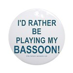 Playing Bassoon Ornament (Round)