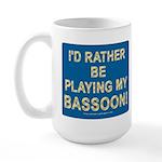 Playing Bassoon Large Mug