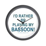 Playing Bassoon Wall Clock