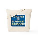 Playing Bassoon Tote Bag
