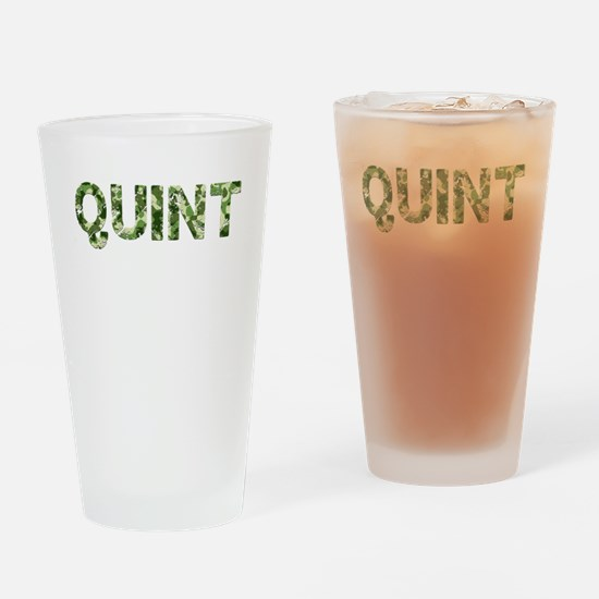 Quint, Vintage Camo, Drinking Glass
