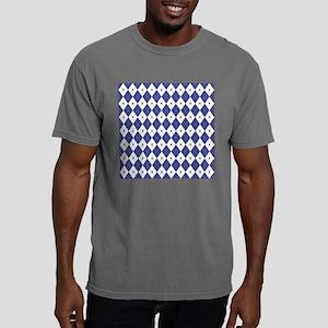 Royal Blue Argyle Mens Comfort Colors Shirt