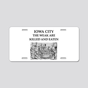 iowa city Aluminum License Plate