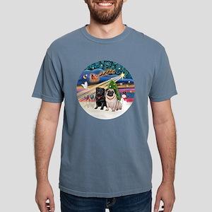Xmas Magic - Pugs (TWO-f Mens Comfort Colors Shirt