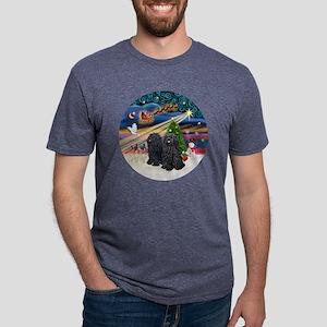 Xmas Magic - Puli (TWO) Mens Tri-blend T-Shirt