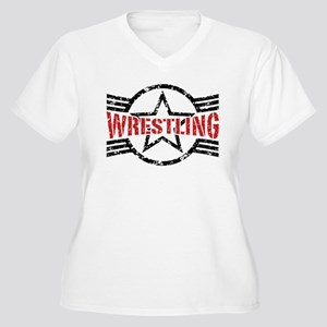 Wrestling Women's Plus Size V-Neck T-Shirt