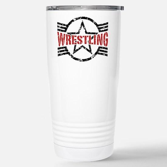 Wrestling Stainless Steel Travel Mug