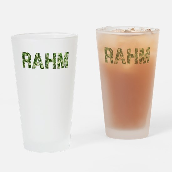 Rahm, Vintage Camo, Drinking Glass