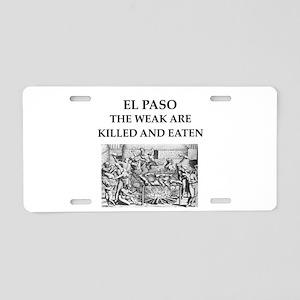 el paso Aluminum License Plate