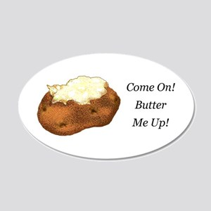 Butter Me Up 20x12 Oval Wall Decal