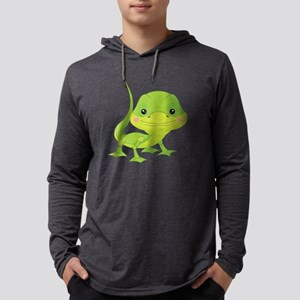 Cute Baby Lizard Mens Hooded Shirt