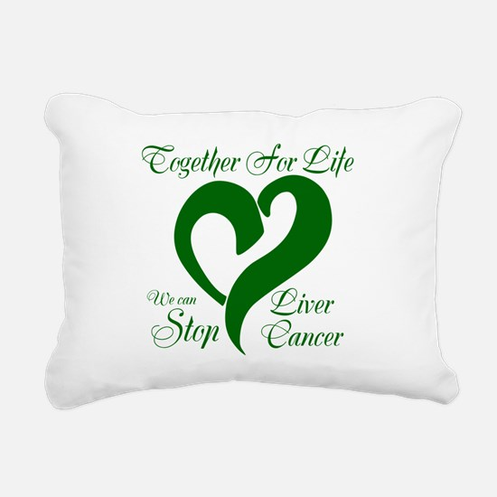 Stop Liver Cancer Rectangular Canvas Pillow