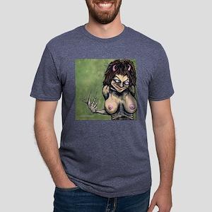 Angry-9 Mens Tri-blend T-Shirt