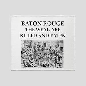 baton rouge,louisiana Throw Blanket
